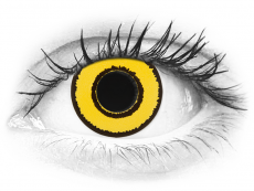 CRAZY LENS - Yellow Twilight - power (2 daily coloured lenses)