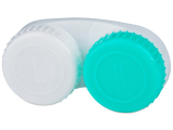 Alensa.co.uk - Contact lenses - Lens Case Green and White with L/R marking