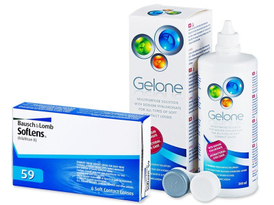 SofLens 59 (6 lenses) + Gelone Solution 360 ml