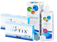 Air Optix Aqua (2x3 lenses) + Gelone Solution 360 ml