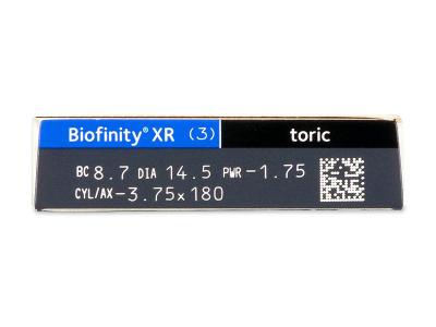 Biofinity XR Toric (3 lenses)