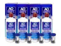 Alensa.co.uk - Contact lenses - AO SEPT PLUS HydraGlyde Solution 4 x 360ml